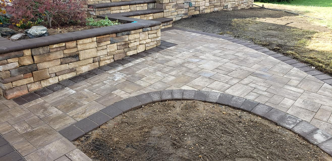 paver planter and porch