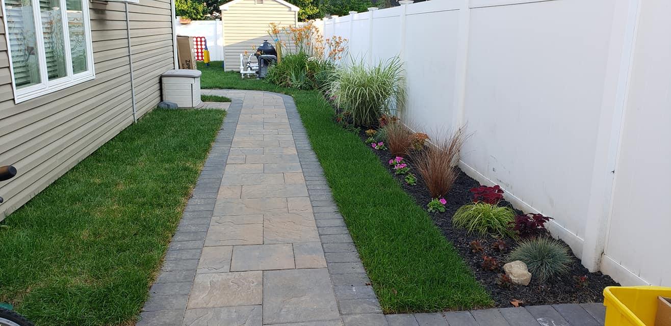 walkway planting